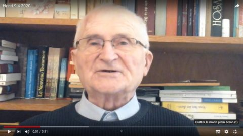 Message du Père Henri Groizeau, jeudi 9 avril 2020, Jeudi Saint