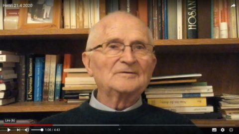 Message du père Henri Groizeau, mardi 21 avril 2020