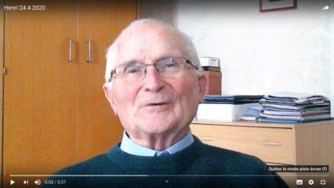 Message du père Henri Groizeau, vendredi 24 avril 2020