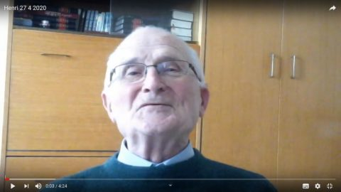 Message du père Henri Groizeau, lundi 27 avril 2020