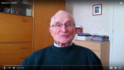 Message vidéo du Père Henri Groizeau, mardi 31 mars 2020