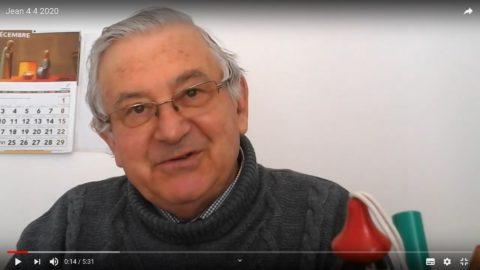 Message vidéo du Père Jean Provost, samedi 4 avril 2020