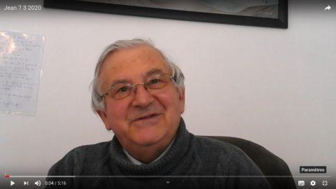 Message vidéo du Père Jean Provost, mardi 7 avril 2020