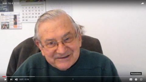 Message du Père Jean Provost, jeudi 16 avril 2020