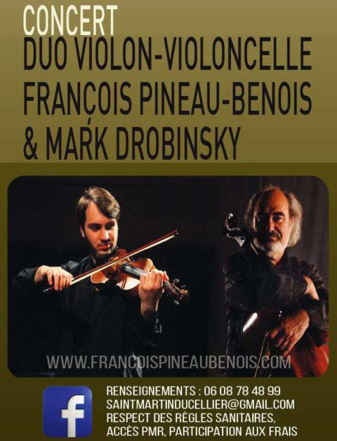 Samedi 3 juillet 20h30mn, Église St Martin le Cellier, concert exceptionnel.